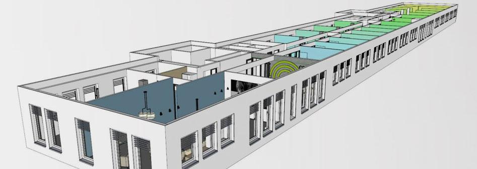 Complex Büro Visualisierung Penthouse Büro