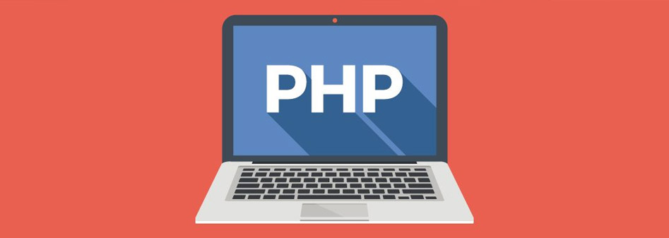 PHP Laptop Grafik Illustration Blog Beitrag