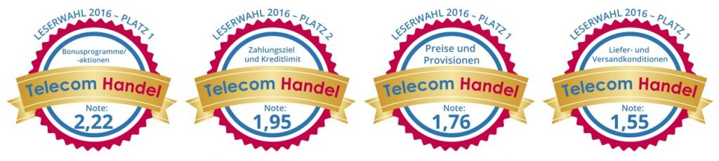 B2B Telecom Handel Auszeichnung Siegel Leserwahl 2016