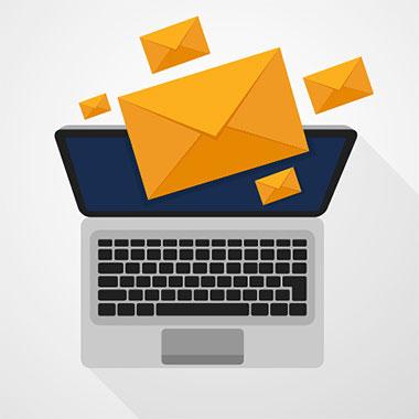 Mailhog Emailversand e-Mail Icon Bildschirm Ilustration
