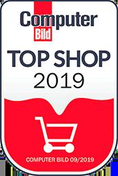 Auszeichnung Computer Bild Top Shop 2019 Siegel
