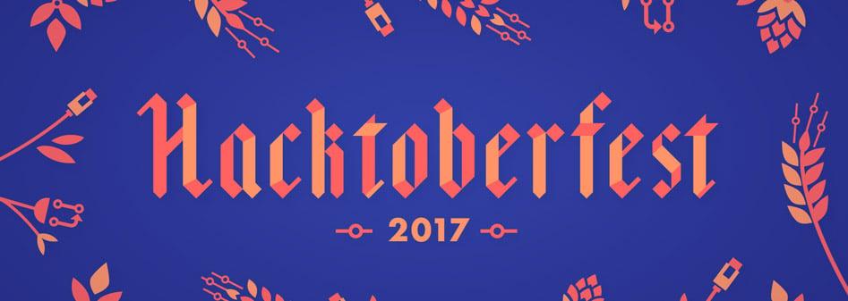 Hacktoberfest 2017 Devs Entwickler Illustration Grafik Teilnahme Complex