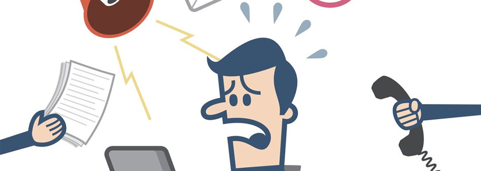 Straight Trough Processing Stress Gestesste Mitarbeiter