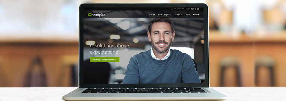 Relaunch website complex aschaffenburg e-solutions