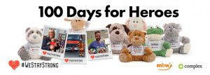100 Days for Heroes #westaystrong Kooperation mbw complex social