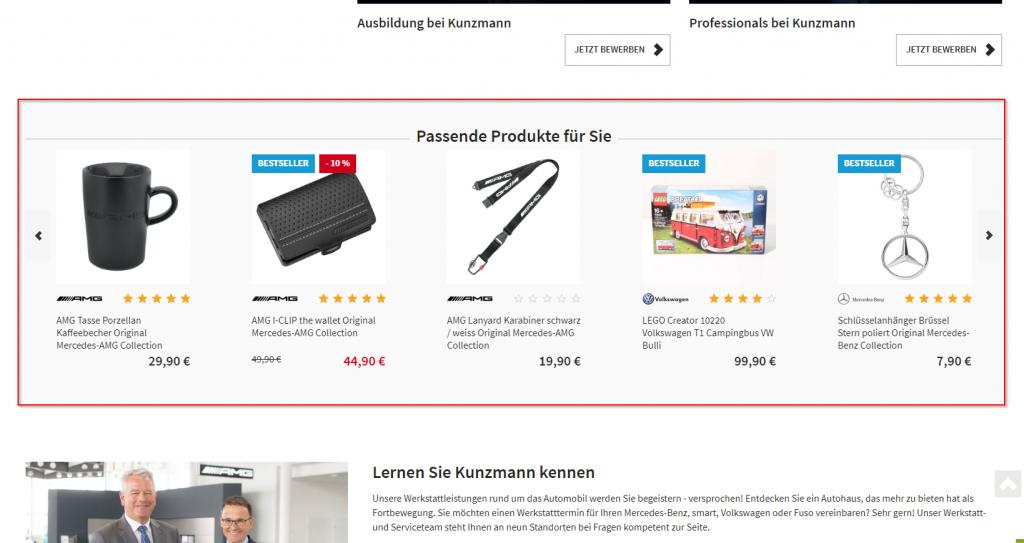 Produktmodule Recommender System Kunzmann