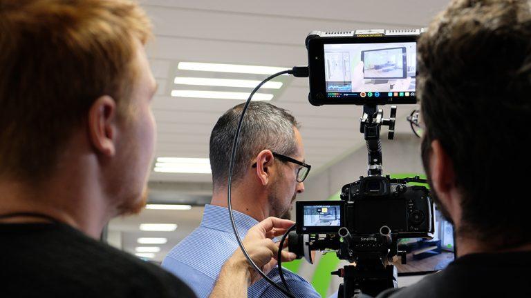 Unternehmensvideo-Drehtag-making-of